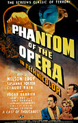 1940s Movies Photo Posters - Phantom Of The Opera, Claude Rains Poster by Everett