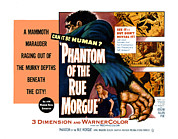 1950s Poster Art Framed Prints - Phantom Of The Rue, Patricia Medina Framed Print by Everett