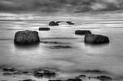 Black-and-white Metal Prints - Phantom Pier Metal Print by Ryan Wyckoff