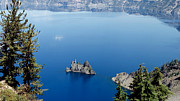 Crater Lake Panorama Posters - Phantom Ship Poster by Jim Chamberlain
