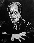 Classic Horror Framed Prints - Phantom Framed Print by Tom Carlton