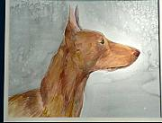Portraits Ceramics Originals - Pharaoh Hound Alazar by Phillip Dimor