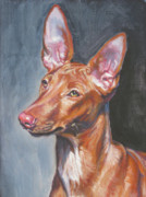 Pharaoh Metal Prints - Pharaoh Hound Metal Print by Lee Ann Shepard