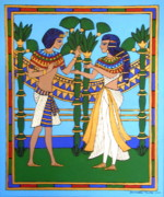 Pharaoh Painting Prints - Pharaoh Print by Stephanie Moore