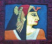 Pharaoh Painting Prints - Pharaoh Print by Vesna Antic