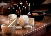 Health Photos - Pharmacist - Pestle and cups by Mike Savad