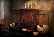Apothecary Photos - Pharmacist - Organizing powder by Mike Savad