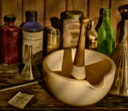 Mortar Art - Pharmacist Tools by Susan Candelario