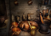 Pharmacy - Alchemist's Kitchen Print by Mike Savad