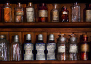 Pharmacy - Bonafide Cures Print by Mike Savad