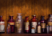 Chemicals Framed Prints - Pharmacy - Liniment Lozenges and Antiseptic Framed Print by Mike Savad