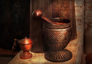Elixir Prints - Pharmacy - Pestle - Luxury Tools  Print by Mike Savad