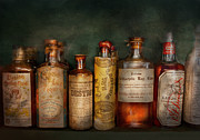 Apothecary Prints - Pharmacy - Daily Remedies  Print by Mike Savad