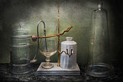 Mystery Prints - Pharmacy - Victorian Apparatus  Print by Mike Savad