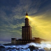 Alexandria Bay Posters - Pharos Lighthouse Of Alexandria, Artwork Poster by Studio Macbeth