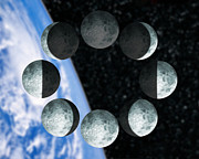 Waning Gibbous Moon Posters - Phases Of The Moon Poster by Victor Habbick Visions