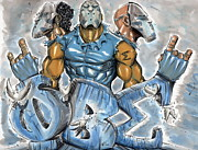 Men Mixed Media Metal Prints - Phi Beta Sigma Fraternity Inc Metal Print by Tu-Kwon Thomas