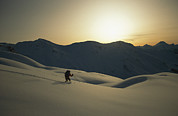 Winter Scenes Photos - Phil Atkinson Skiing The Purcell by Tim Laman