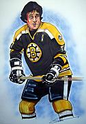 Nhl Hockey Drawings Prints - Phil Esposito Print by Dave Olsen
