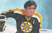 Ice Skates Paintings - Phil Esposito by Wj Bowers