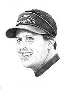 Phil Mickelson Print by Murphy Elliott