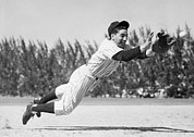 Baseball Game Art - Phil Rizzuto, As A Rookie Infielder by Everett