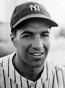 Baseball Closeup Photo Metal Prints - Phil Rizzuto, September 10, 1941. Csu Metal Print by Everett