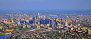 Aerial Photograph Framed Prints - Philadelphia Aerial  Framed Print by Duncan Pearson