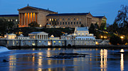 Art Museum Photo Prints - Philadelphia Art Museum and Fairmount Water Works Print by Gary Whitton
