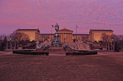 Philadelphia Art Museum Prints - Philadelphia Art Museum At Dusk Print by Kenneth Garrett