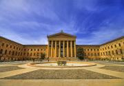 Downtown Art - Philadelphia Art Museum by Evelina Kremsdorf