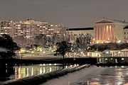 Schuylkill River Prints - Philadelphia Art Museum in Pastel Print by Deborah  Crew-Johnson
