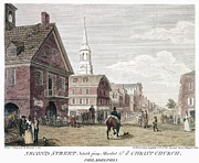 Philadelphia Scene Framed Prints - Philadelphia: Birch, 1799 Framed Print by Granger