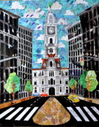 Philly Mixed Media Acrylic Prints - Philadelphia Acrylic Print by Blair Barbour