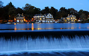 Boathouse Row Photos - Philadelphia Boathouse Row at Twilight by Gary Whitton