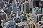 Pearson Aerial Originals - Philadelphia City Hall Broad St and Market St Philadelphia Pennsylvania 19107 by Duncan Pearson