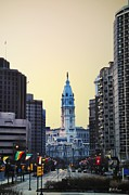 Philadelphia Digital Art Prints - Philadelphia Cityhall at Dawn Print by Bill Cannon