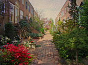 Phillie Metal Prints - Philadelphia Courtyard - Symphony of Springtime Gardens Metal Print by Carol Senske