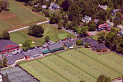 Aerial Photo Of Philadelphia Posters - Philadelphia Cricket Club Grass Tennis 415 West Willow Grove Avenue Philadelphia PA 19118 Poster by Duncan Pearson