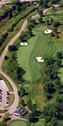 Aerials Of Philly Cricket Prints - Philadelphia Cricket Club Militia Hill Golf Course 10th Hole Print by Duncan Pearson