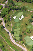 Aerials Of Philly Cricket Prints - Philadelphia Cricket Club Militia Hill Golf Course 11th Hole Print by Duncan Pearson