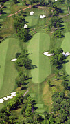 Aerials Of Philly Cricket Prints - Philadelphia Cricket Club Militia Hill Golf Course 14th Hole Print by Duncan Pearson
