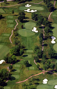 Aerials Of Philly Cricket Prints - Philadelphia Cricket Club Militia Hill Golf Course 15th Hole Print by Duncan Pearson