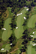 Aerials Of Philly Cricket Prints - Philadelphia Cricket Club Militia Hill Golf Course 17th Hole Print by Duncan Pearson