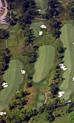 Aerials Of Philly Cricket Prints - Philadelphia Cricket Club Militia Hill Golf Course 18th Hole Print by Duncan Pearson