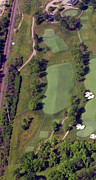 Aerials Of Philly Cricket Framed Prints - Philadelphia Cricket Club Militia Hill Golf Course 2nd Hole Framed Print by Duncan Pearson