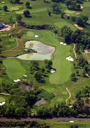 Aerial Books Prints - Philadelphia Cricket Club Militia Hill Golf Course 3rd Hole Print by Duncan Pearson