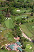 Aerials Of Philly Cricket Prints - Philadelphia Cricket Club Militia Hill Golf Course 4th Hole Print by Duncan Pearson