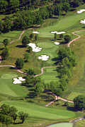 Aerials Of Philly Cricket Prints - Philadelphia Cricket Club Militia Hill Golf Course 5th Hole Print by Duncan Pearson