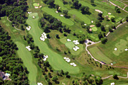 Aerials Of Philly Cricket Prints - Philadelphia Cricket Club Militia Hill Golf Course 6th Hole 2 Print by Duncan Pearson